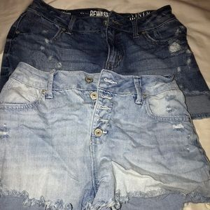2 pairs of rewash denim shorts